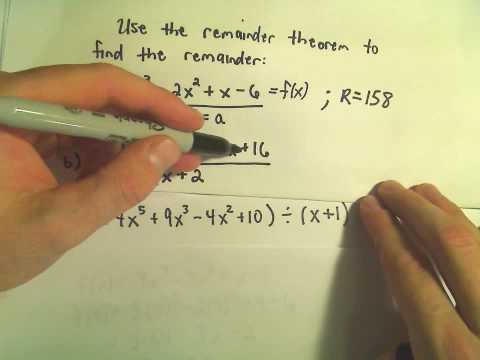 The Remainder Theorem - Example 1