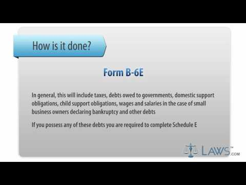 Learn How to Fill the Form B-6 E Schedule E - Creditors Holding Unsecured Priority Claims