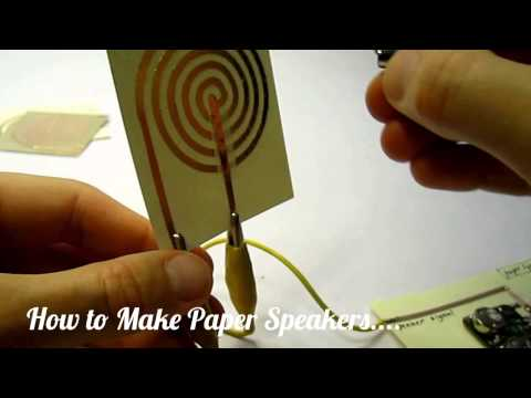 How to Make Paper Speakers....
