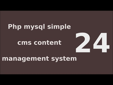 php mysql simple cms content management system tutorial - 24 Link Post to users