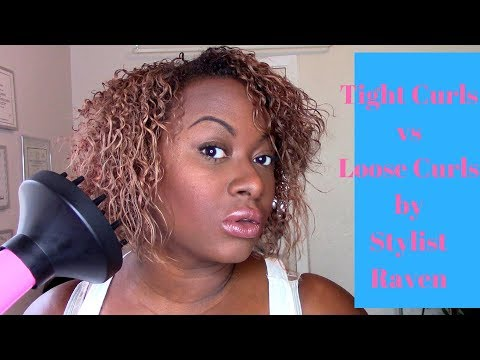 Loose curls vs Tight Curls | How To Diffuse Natural Hair 💁🏾 | Texas Hairstylist