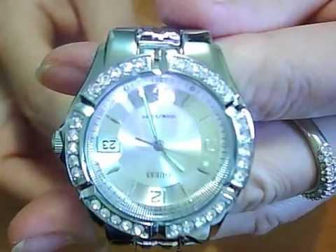Guess Waterpro Date Crystal 100m Ladies Watch G75511M