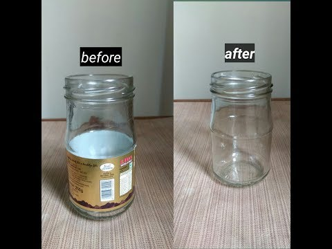 How to remove sticker/label from glass bottle or jar easily