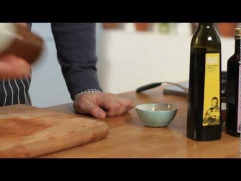 Jamie Oliver's extra virgin olive oil and balsamic vinegar