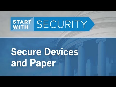 Secure Devices and Paper | Federal Trade Commission