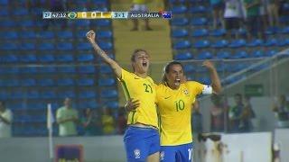 Brasil 3x1 Austrália - Amistoso Internacional Feminino - 23/07/2016