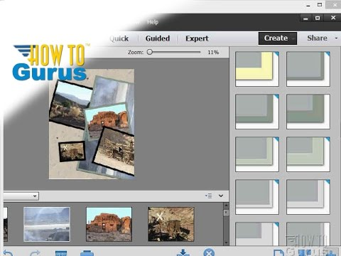 How to Make a Collage in Adobe Photoshop Elements 15 14 13 12 11 Tutorial