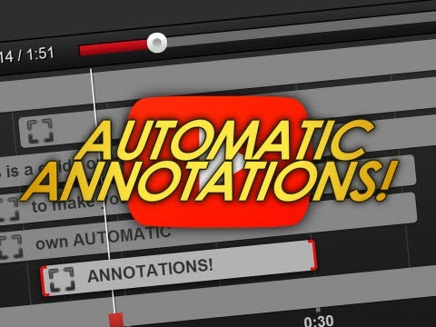 How to Create Automatic YouTube Annotations