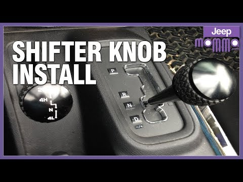 Jeep Wrangler Unlimited How to Remove & Replace Transfer Case Shifter Knob by Jeep Momma