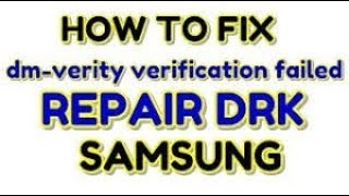 How to fix Device does not have DRK Samsung Galaxy S6 Edge