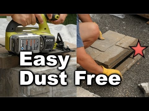 How to Cut Pavers - Easy and Dust Free