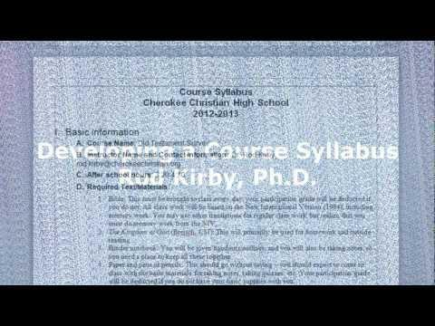 Developing a Syllabus - Rod Kirby, Ph.D.