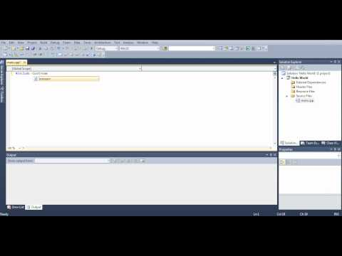 Microsoft Visual Studio C++ Tutorial 1 (Hello, World), HD