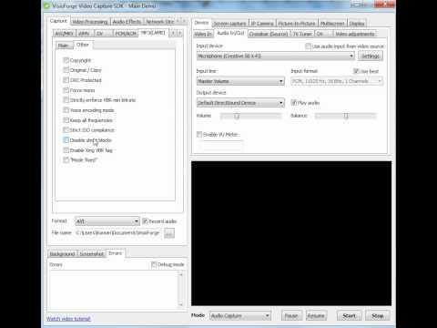 Video Capture SDK - LAME MP3 Output Tutorial