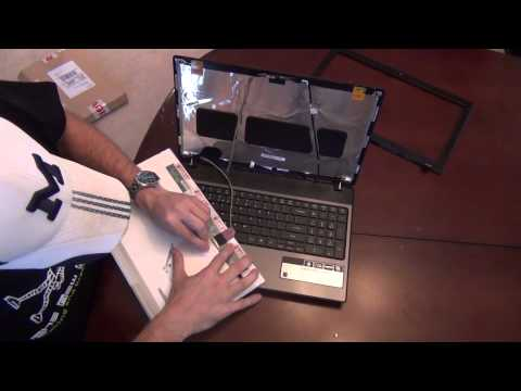 Laptop screen replacement / How to replace laptop screen Acer Aspire 5551