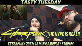 We REACT to Cyberpunk 2077 48 min gameplay OMG!!!