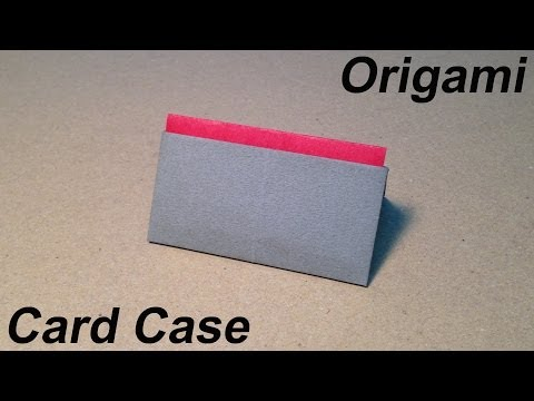 How to Make a Paper Card Case / Origami Card Case / Easy for Children