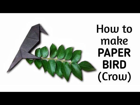 How to make origami paper bird (crow) | Origami / Paper Folding Craft Videos & Tutorials.
