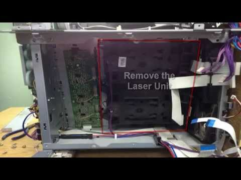 How to clean the Laser Unit of HP Color LaserJet CP3505 (Fading cyan toner)