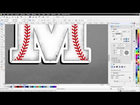 CorelDRAW Tutorial T-Shirt Design Tutorial Sports with Baseball Effects
