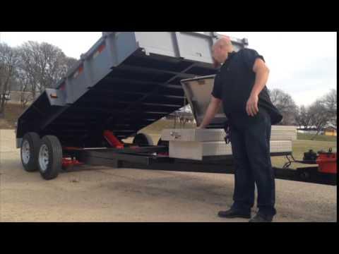 homemade  dumping trailer, home made