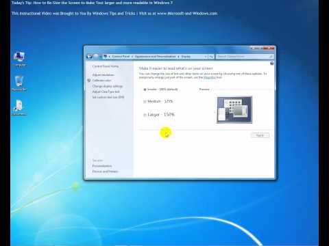 How to Re-Size Your Screen in Windows 7 to Add More Text