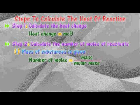 [4.2] Heat of reaction - Calculation Guidelines