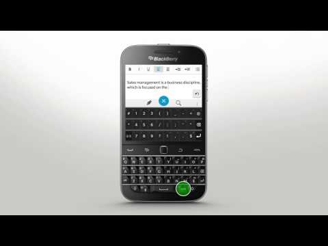 Keyboard and Typing: BlackBerry Classic - Official How To Demo
