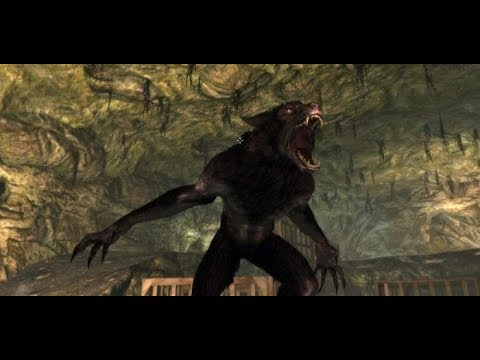 Skyrim - Farkas transforms into Werewolf