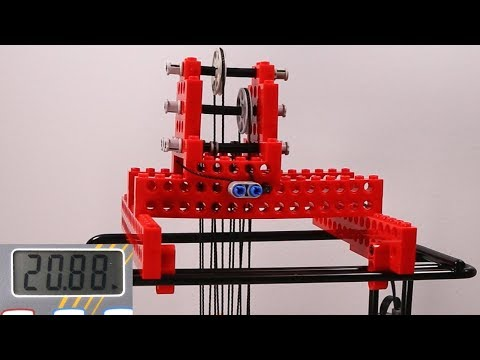 Testing different lego pulleys/tackles