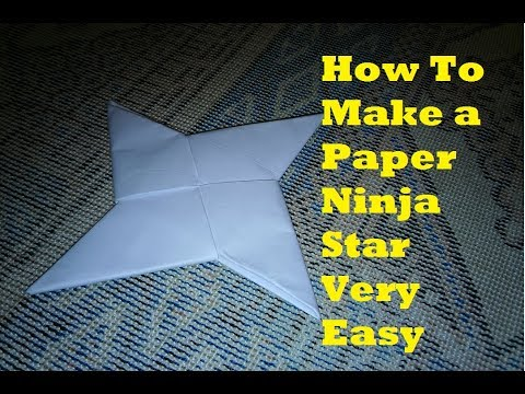 How To Make a Paper Ninja Star Very Easy - Origami Paper Star