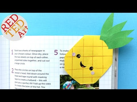 Easy Pineapple Bookmark Corner DIY - Kawaii Paper Bookmark Ideas