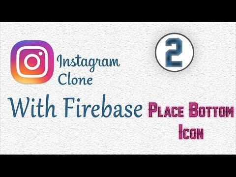 Android Studio Firebase Instagram Clone App 2# Create Bottom navigation icon