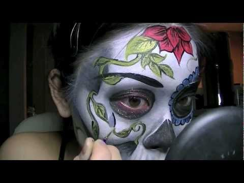 2 versions dia de los muertos skull mask tutorial
