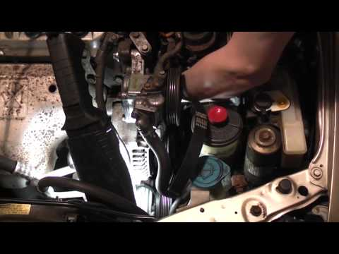 Honda Accord Alternator and Power Steering Belt Replacement