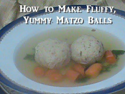 How to Make Fluffy, Yummy Matzo Balls