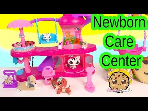 Puppy in My Pocket Newborn Baby Care Center Playset & Littlest Pet Shop Mom Babies Play