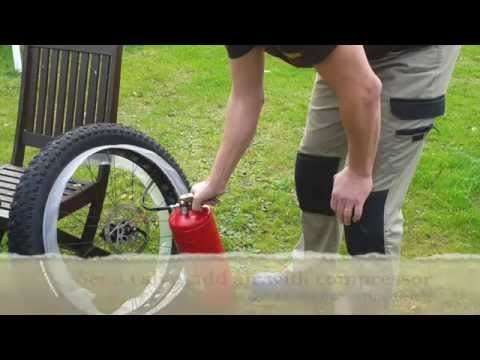 How to make a super light rim strip to fatbike tubeless
