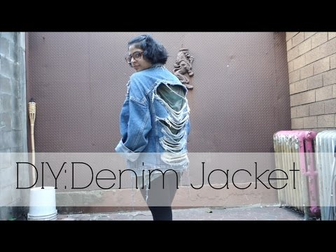 How To: DIY Distressed Denim Jacket & OOTD