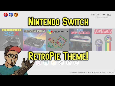 Nintendo Switch RetroPie Theme For Emulationstation! Awesome Clean Look!