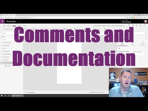 PowerApps Code Comments inline block and documentation