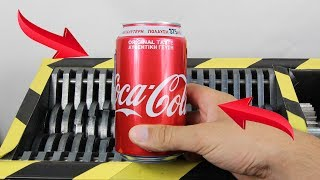 Experiment Shredding Coca Cola And Toys | The Crusher