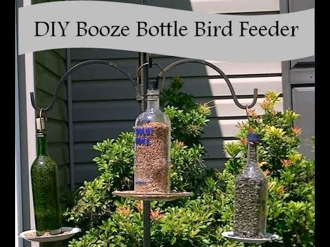 How to Make a Bird Feeder from a Liquor Bottle