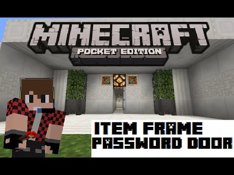 How to make an item frame password door | Minecraft PE