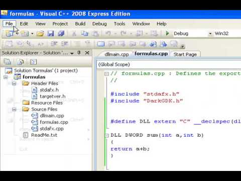 Tutorial - How to create a DLL in visual c++ 2008 and how to load it into another app