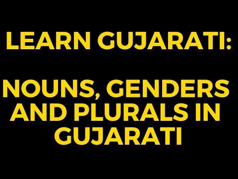 Nouns, genders and plurals in Gujarati : Learn Gujarati through English with Kaushik Lele