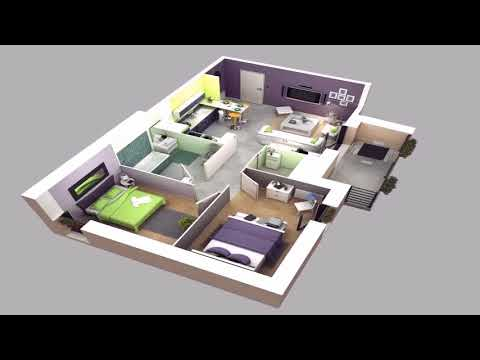 Small Home Plan 3d