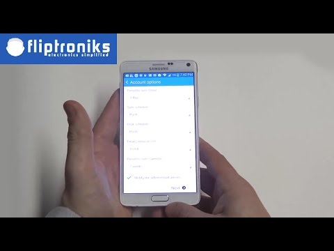 How To Set Up Email Accounts On Your Samsung Galaxy Note 4 - Fliptroniks.com