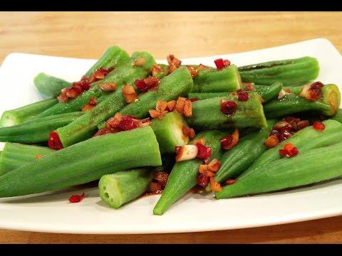 Okra with Garlic Soy Sauce - Sien's Kitchen