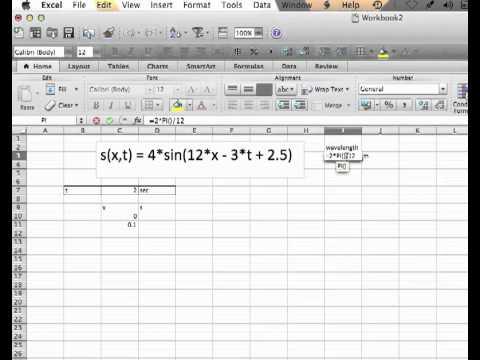 Excel sin plot